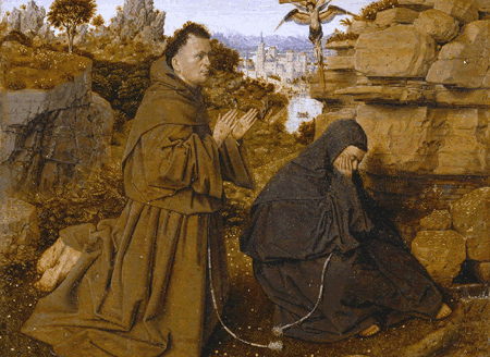 Jan Van Eyck - Saint Francis of Assisi Receiving the Stigmata