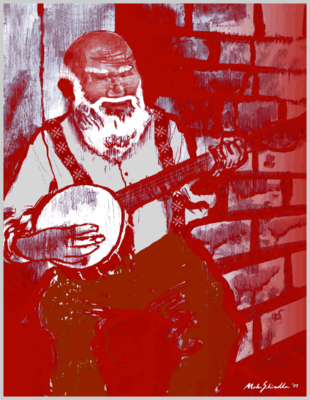 Happy Holidays 2007 - Banjo Santa